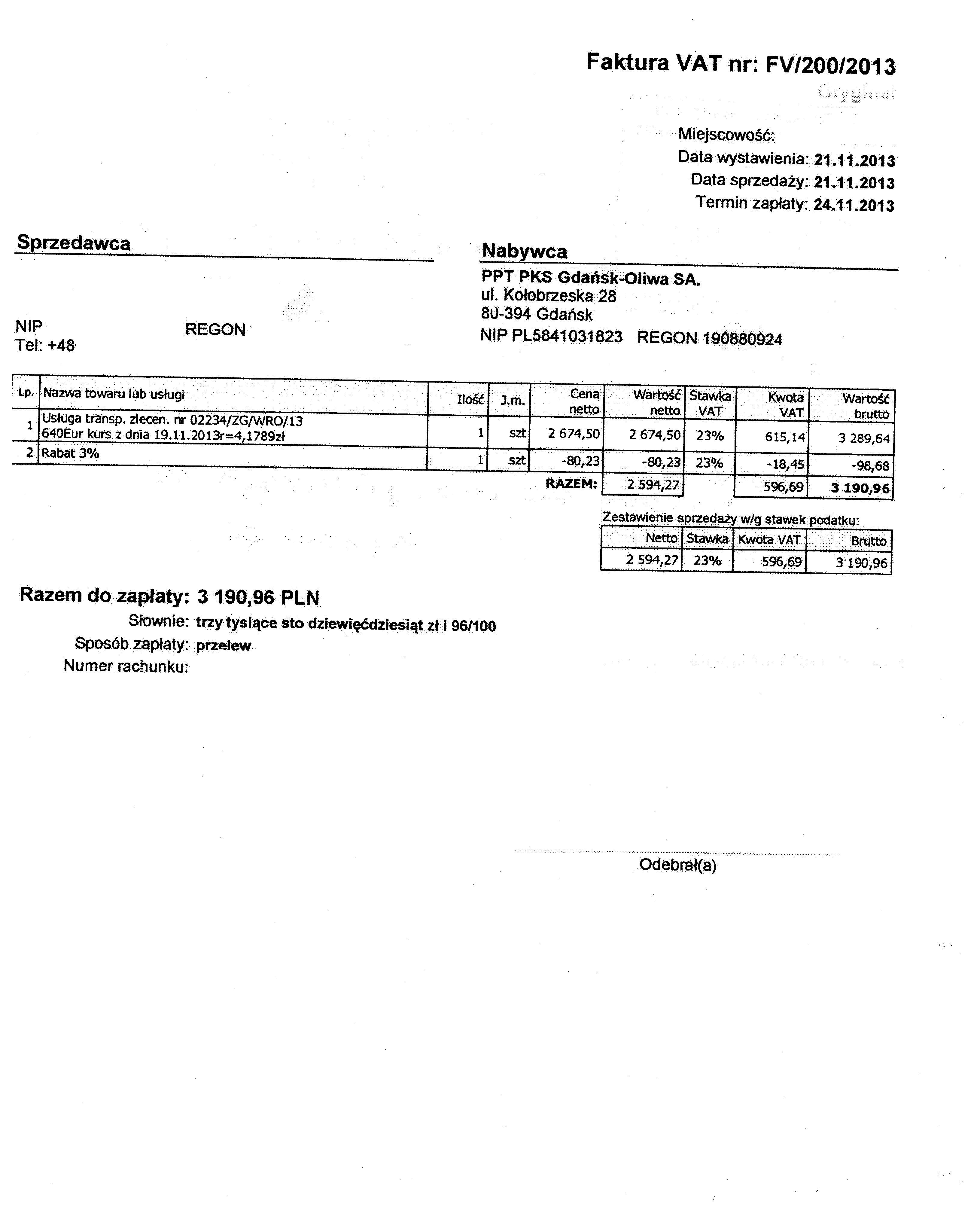 Zaawansowane Dla przewoźnika | PKS Gdańsk-Oliwa SA SS37